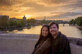 Sunset along the Seine
