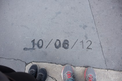 We found our wedding anniversary (even the correct year!) engraved in the streets of Les Halles! Les Halles also happens to be the name of a French restuarant we love in NYC - serendipitous much?