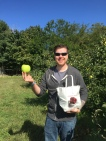 Apple picking at Woodside Orchards in Aquebogue