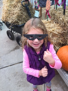 Pumpkin picking with our niece Sadie
